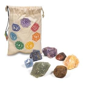 Conjunto de pedras semi-preciosas em bruto - 7 chakras
