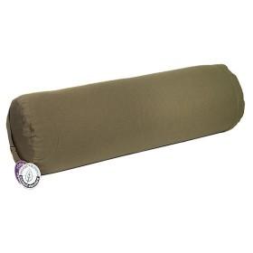 Bolster cilíndrico para yoga - Verde oliva