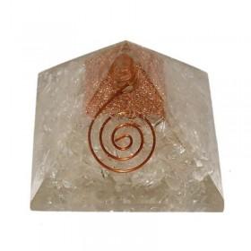 Pirâmide de Orgonite com Quartzo Branco - Grande
