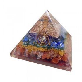 Pirâmide de Orgonite dos 7 Chakras - Grande