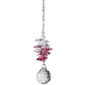 Cascata de cristais Swarovski multifacetados - Rosa