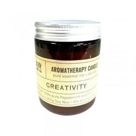 Vela para Aromaterapia com Óleos Essenciais - Criatividade