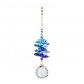 Cascata de cristais Swarovski multifacetados - Azul