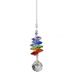 Cascata de cristais Swarovski multifacetados - Chakras