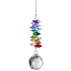 Cascata de cristais Swarovski multifacetados - Chakras - grande