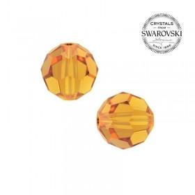 Contas de Cristal Multifacetado Swarovski Amarela de 6 mm - 10 contas