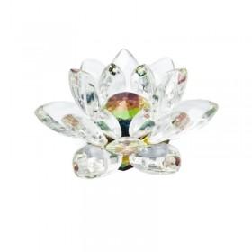 Flor de Lotus em Cristal grande