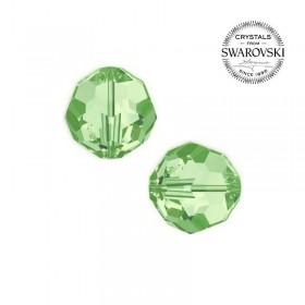 Contas de Cristal Multifacetado Swarovski Verde de 6 mm - 10 contas
