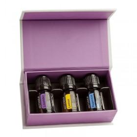 Conjunto introdutório de óleos essenciais doTERRA - 5 ml (Pack económico de 6 conjuntos)