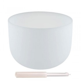 Taça Sonora de Cristal Quartzo - 40 cm - afinada com a nota Fá (432 Hertz)