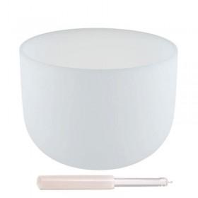 Taça Sonora de Cristal Quartzo - 25 cm - Afinada com a nota Mi (432 Hertz)