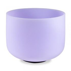 Taça Sonora de Cristal Ametista - 20 cm - afinada com a nota Fá (432 Hertz)