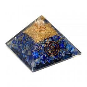 Pirâmide de Orgonite com Lápis-lazúli