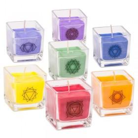 Conjunto de velas dos chakras BIO perfumadas