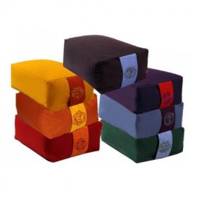 Conjunto de almofadas de meditação retangulares - 7 chakras
