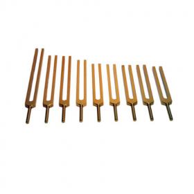 Conjunto de Diapasões Solfeggio (Solfeggio Tuning Forks) - Dourado