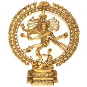 Estátua de Shiva Nataraj monocromática - 48 cm