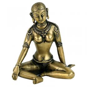 Estátua de Parvati Monocolorida - 15 cm