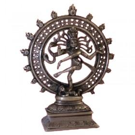 Estátua de Shiva Nataraj monocromática - 20 cm