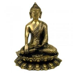 Estátua de Buda na Flor de Lotus - 20 cm