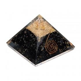 Pirâmide de Orgonite com Turmalina Negra - Grande